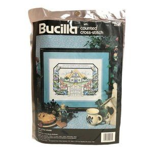 New Bucilla Cross Stitch Kit Our Little House VTG